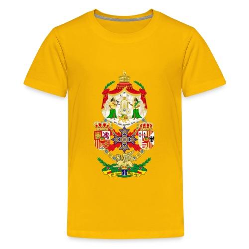 Ethiopian Empire Coat of arms Crest Crown Council - Kids' Premium T-Shirt