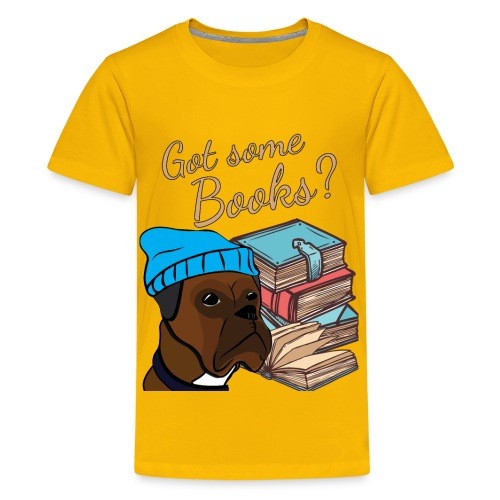 Funny boxer and book lover tshirt - Kids' Premium T-Shirt