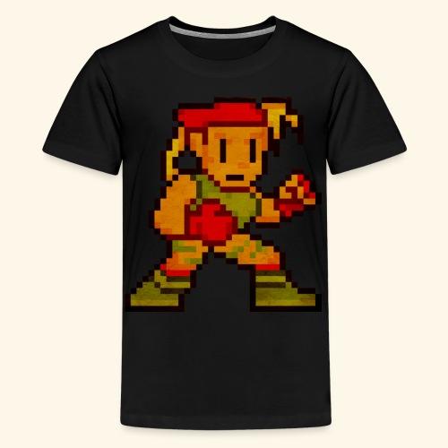 Pixelfighter ArmyGirl (Vintage Print) - Kids' Premium T-Shirt
