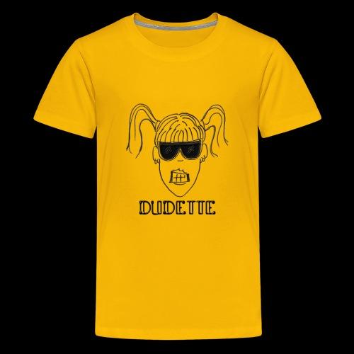 Dudette Head 1 - Kids' Premium T-Shirt