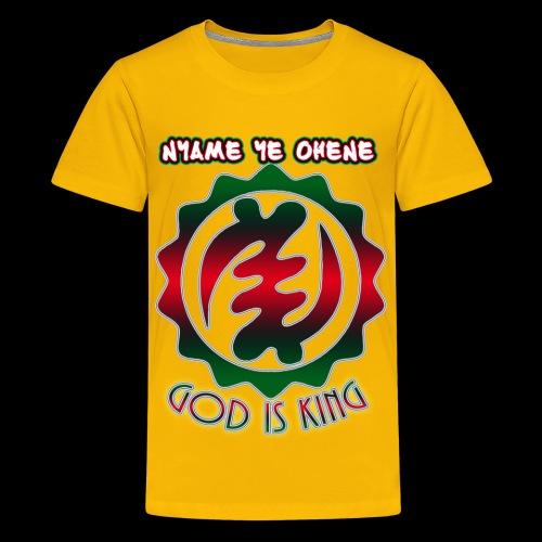 God is King Adinkra - Kids' Premium T-Shirt