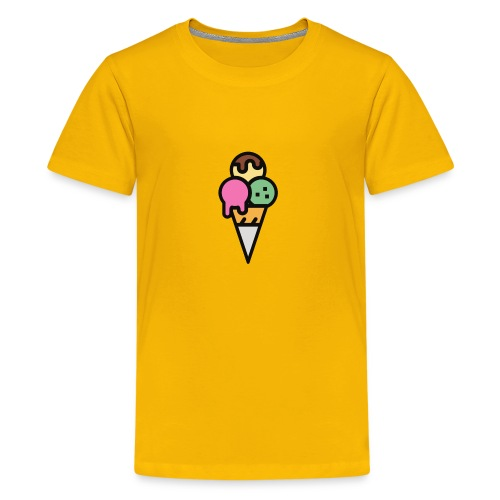 Triple Scoop Cone - Kids' Premium T-Shirt