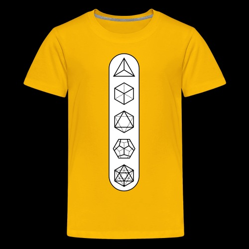 platonic-white-bg - Kids' Premium T-Shirt