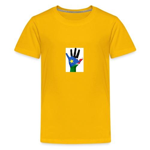 south sudan hand flag - Kids' Premium T-Shirt