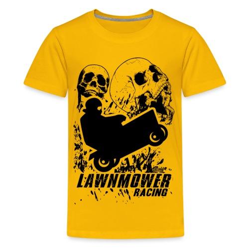 Lawnmower Race Cranial Scream - Kids' Premium T-Shirt