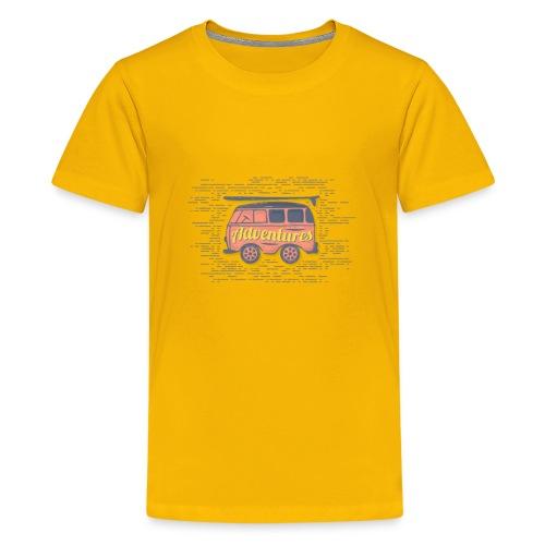Cute Adventures Bus Inspirational Outdoor Gift - Kids' Premium T-Shirt