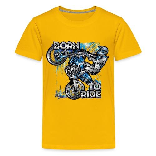 Born To Ride Motocross - Kids' Premium T-Shirt