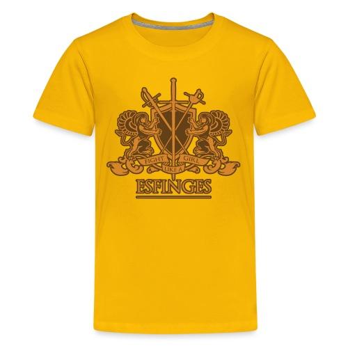 Fight Like a Girl 2 gold - Kids' Premium T-Shirt