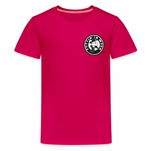 Solid Puttin' In Work Logo - Kids' Premium T-Shirt
