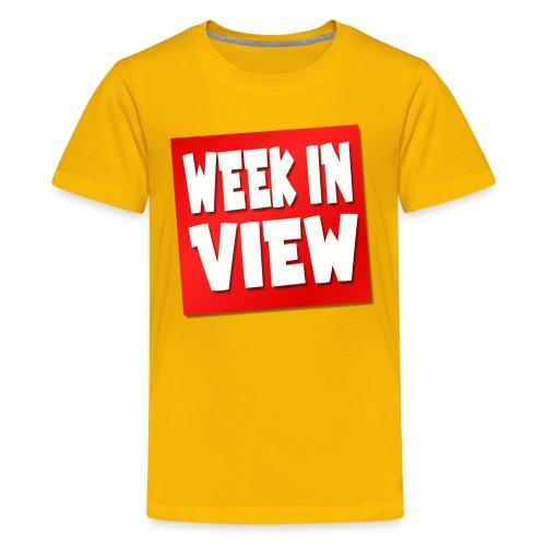 WEEK IN VIEW LOGO - Kids' Premium T-Shirt