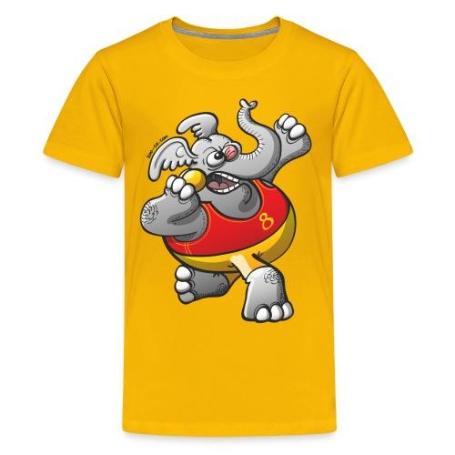 Olympic Shot Put Elephant - Kids' Premium T-Shirt