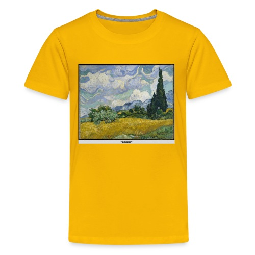 Wheat Field with Cypresses, VAN GOGH - Kids' Premium T-Shirt
