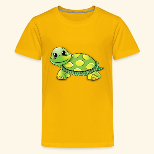 Green turtle cartoon - Kids' Premium T-Shirt