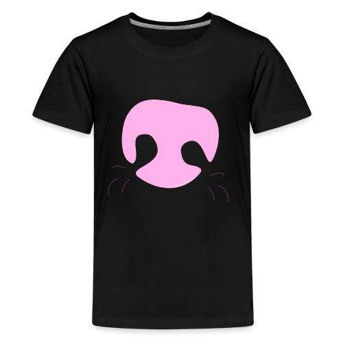 Pink Whimsical Dog Nose - Kids' Premium T-Shirt