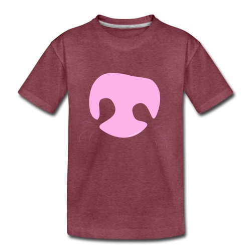 Pink Whimsical Dog Nose - Kids' Premium T-Shirt