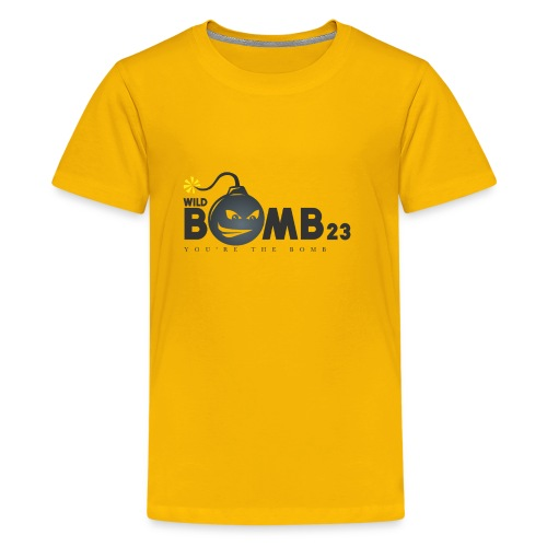 WildBomb23 Black Logo - Kids' Premium T-Shirt
