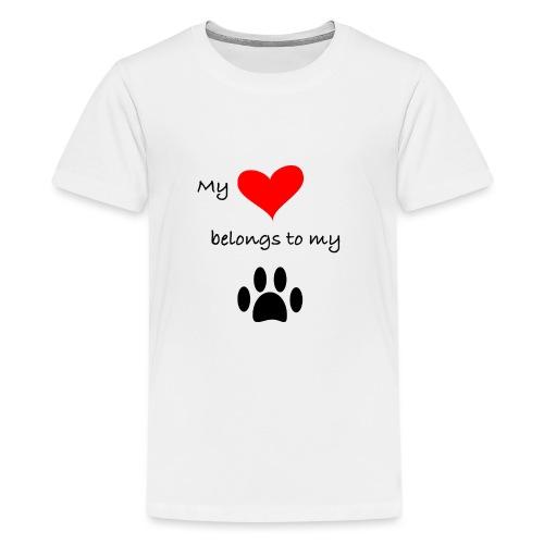 Dog Lovers shirt - My Heart Belongs to my Dog - Kids' Premium T-Shirt
