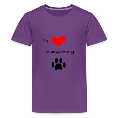 Dog Lovers shirt - My Heart Belongs to my Dog - Kids' Premium T-Shirt