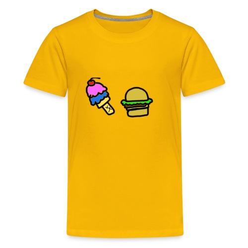 Ice Cream and cheeseburgers - Kids' Premium T-Shirt