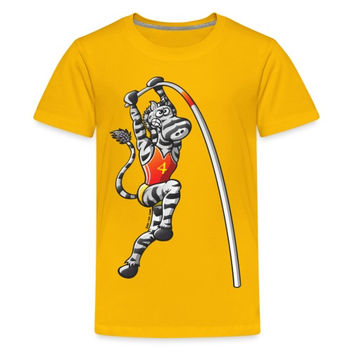 Olympic Pole Vault Zebra - Kids' Premium T-Shirt