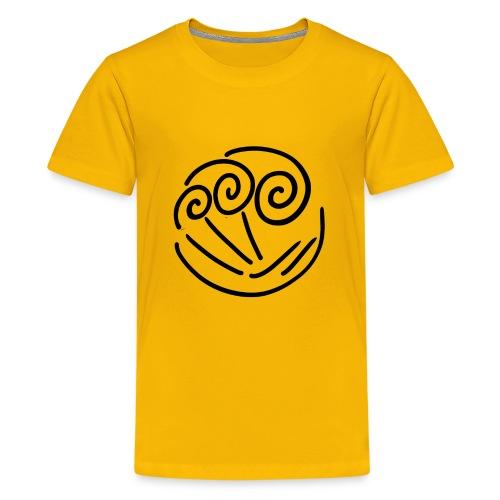 wave illustration surf surfing sea water present - Kids' Premium T-Shirt