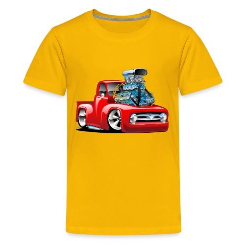 American Classic Hot Rod Pickup Truck Cartoon - Kids' Premium T-Shirt