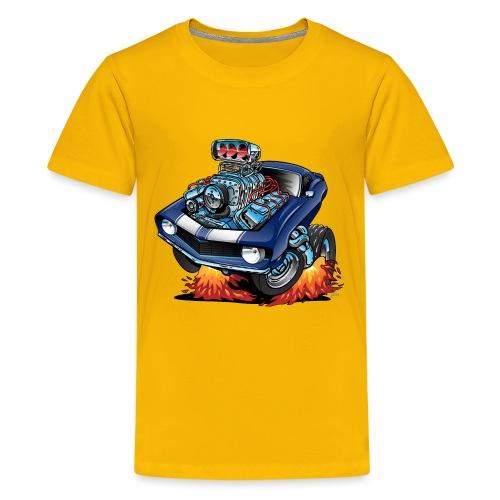 Classic Sixties American Muscle Car Cartoon - Kids' Premium T-Shirt
