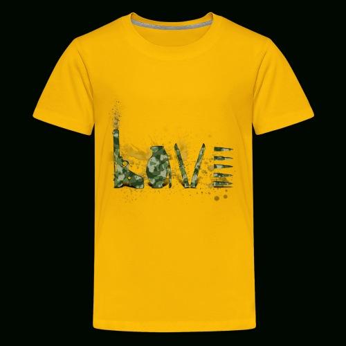 Love and War - Army - Kids' Premium T-Shirt