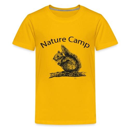 Nature Camp Squirrel - Kids' Premium T-Shirt