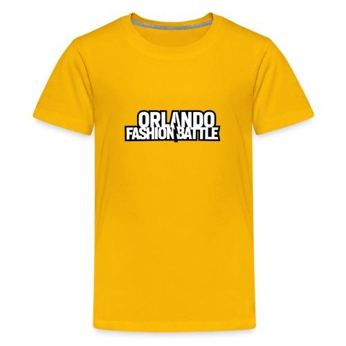 Orlando Fashion Battle Logo White Text - Kids' Premium T-Shirt