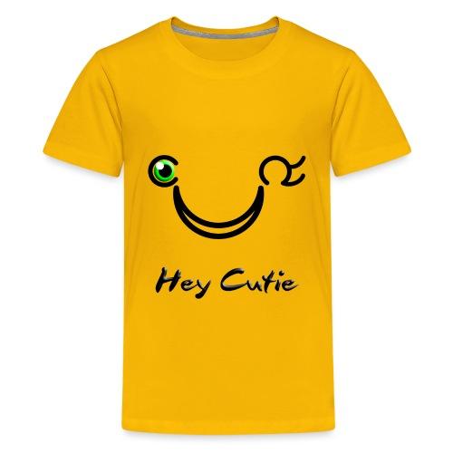 Hey Cutie Green Eye Wink - Kids' Premium T-Shirt