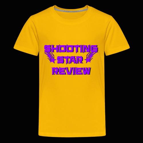 Shooting Star Review Purple Logo - Kids' Premium T-Shirt