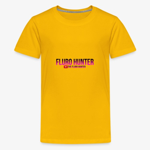The Fluro Hunter Black And Purple Gradient - Kids' Premium T-Shirt