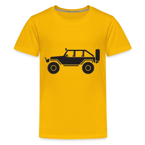 Off Road 4x4 Silhouette - Kids' Premium T-Shirt
