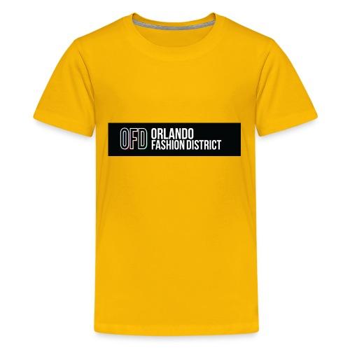 OFD Long Logo White Text - Kids' Premium T-Shirt