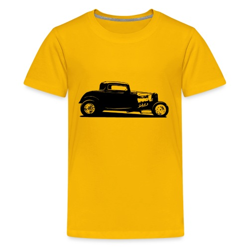 Classic American Thirties Hot Rod Car Silhouette - Kids' Premium T-Shirt