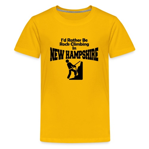 Rock Climbing New Hampshire - Kids' Premium T-Shirt