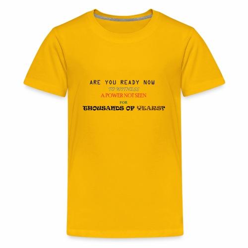 Vegeta Quote Best Powerful Quote Not Seen - Kids' Premium T-Shirt