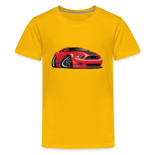 American Muscle Car Cartoon Illustration - Kids' Premium T-Shirt