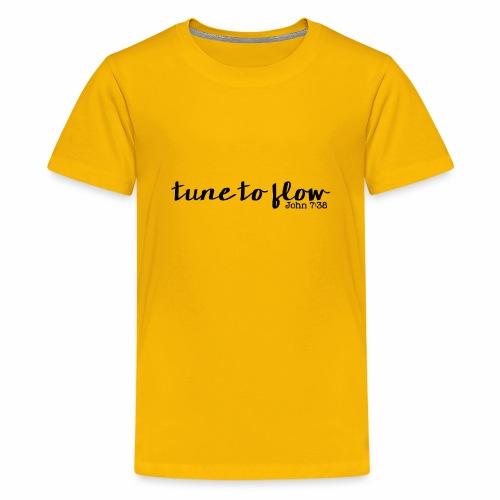 Tune to Flow - Design 1 - Kids' Premium T-Shirt