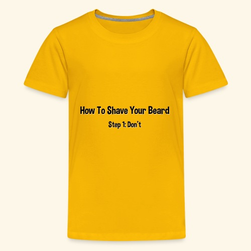 How To Shave Your Beard (Dark Text) - Kids' Premium T-Shirt