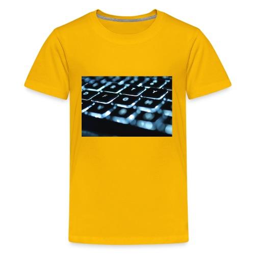 Glowing Keyboard - Kids' Premium T-Shirt