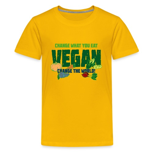 Change what you eat, change the world - Vegan - Kids' Premium T-Shirt