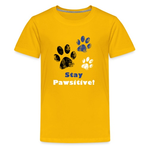 Stay Pawsitive! - Kids' Premium T-Shirt