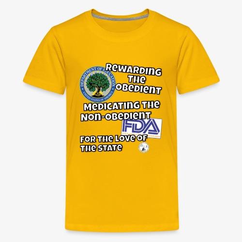 US Dept. of Education - Rewarding the Obedient... - Kids' Premium T-Shirt