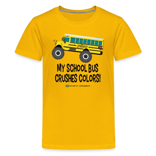 Monster_Schoolbus_Crushes - Kids' Premium T-Shirt