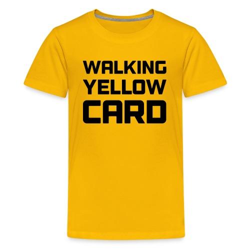 Walking Yellow Card Women's Tee - Kids' Premium T-Shirt