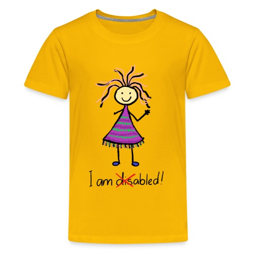 Kid with disability - I am able! Limb difference 2 - Kids' Premium T-Shirt