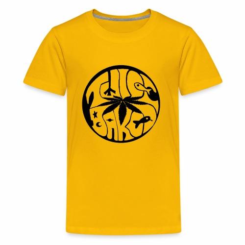 tWicEbakED logo, black circle - Kids' Premium T-Shirt