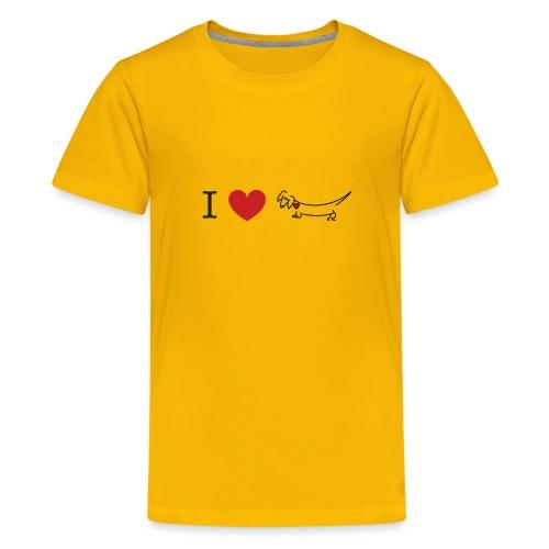 I love Dachshund - Kids' Premium T-Shirt